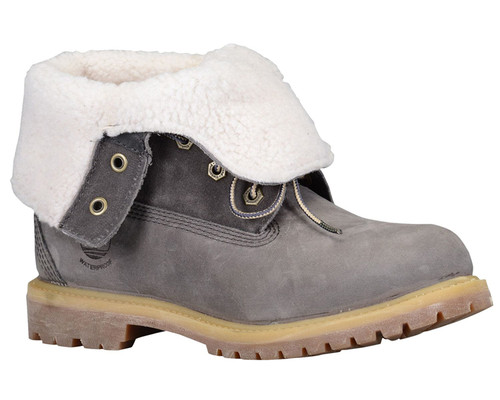 Teddy fleece timberland boots grey